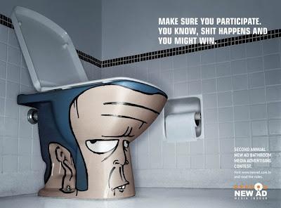 Toilet Art Ads  http://obm7.wordpress.com/2008/10/08/toilet-art/