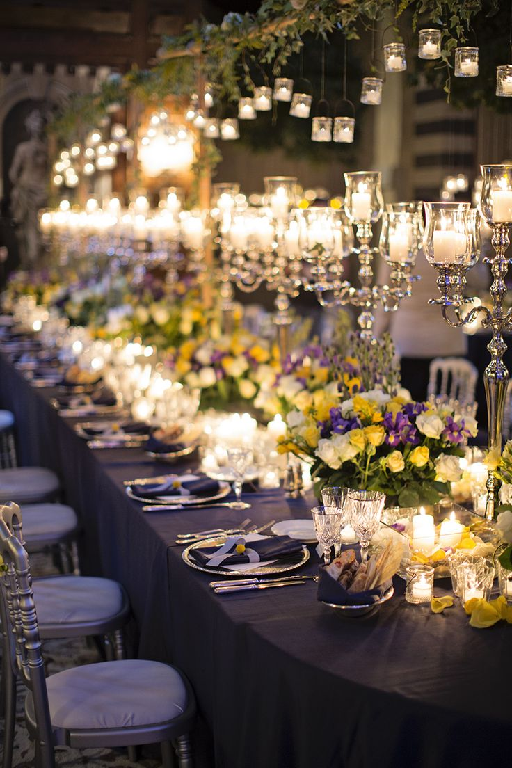 Four Season's Hotel Firenze - over 2,000 candles were lit at Isa + Paul's wedding in Florence in the Conventino Terrace