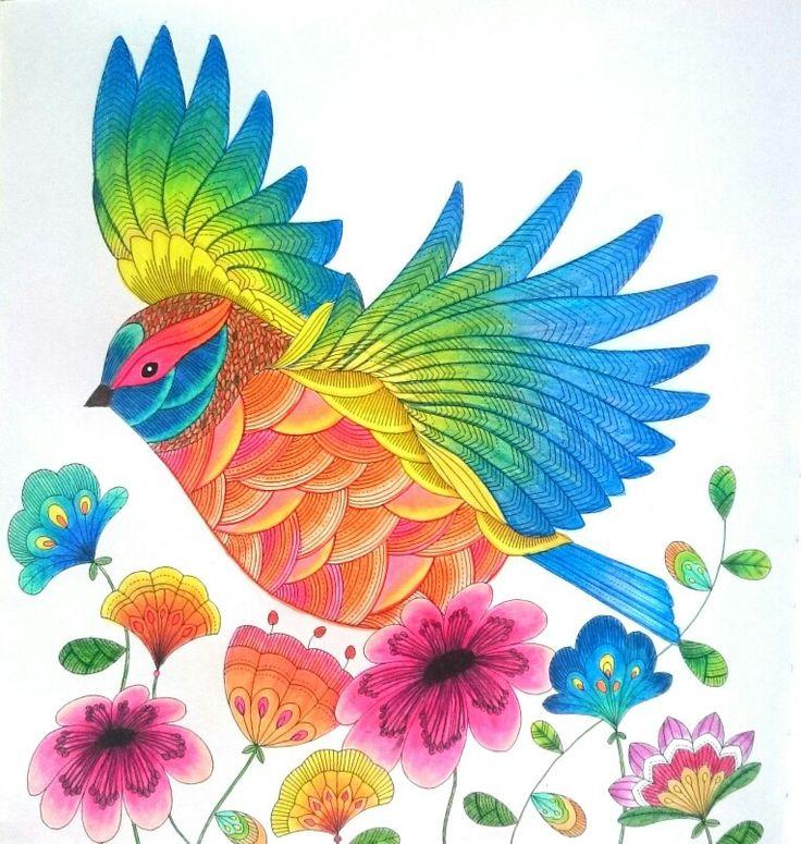 Millie Marotta   Animal Kingdom    Colored with koh-i-noor gioconda pastels.