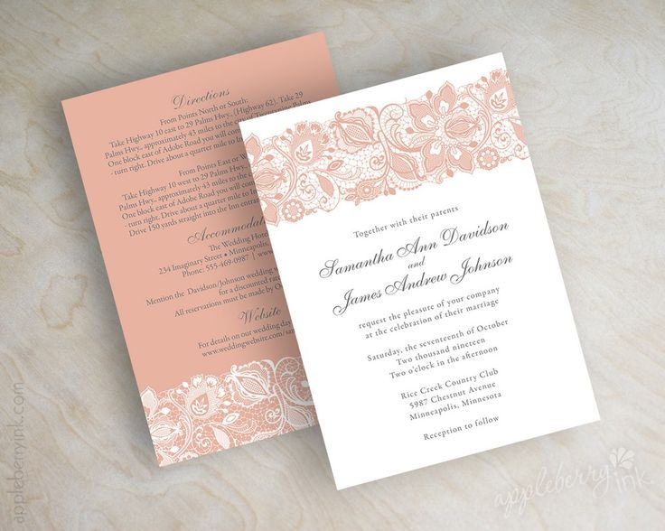 Image of Jessica Peach Wedding Invitations