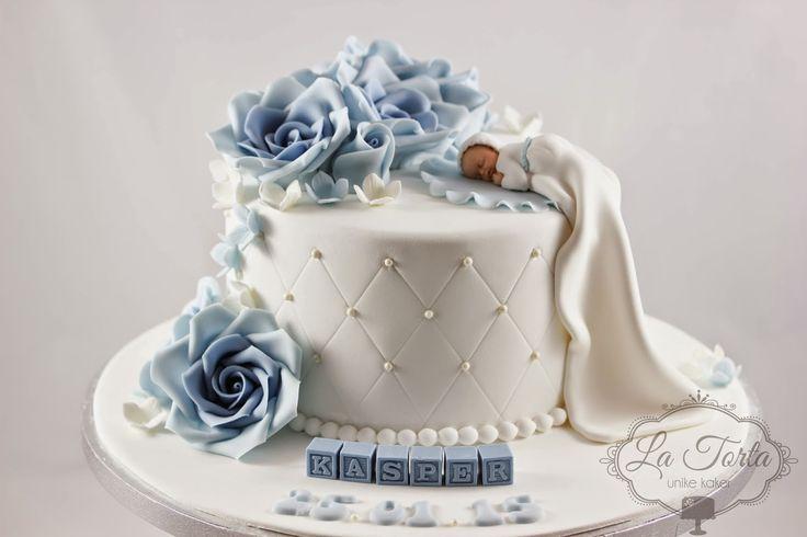 La Torta - unike kaker: Dåpskake til gutt - baby i dåpskjole