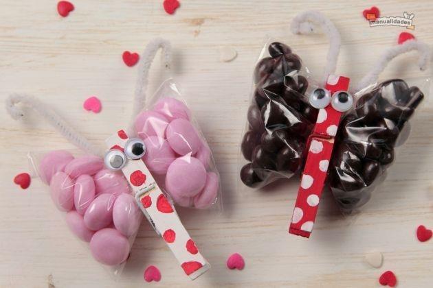 Idea super cute y facil d hacer para san valentin