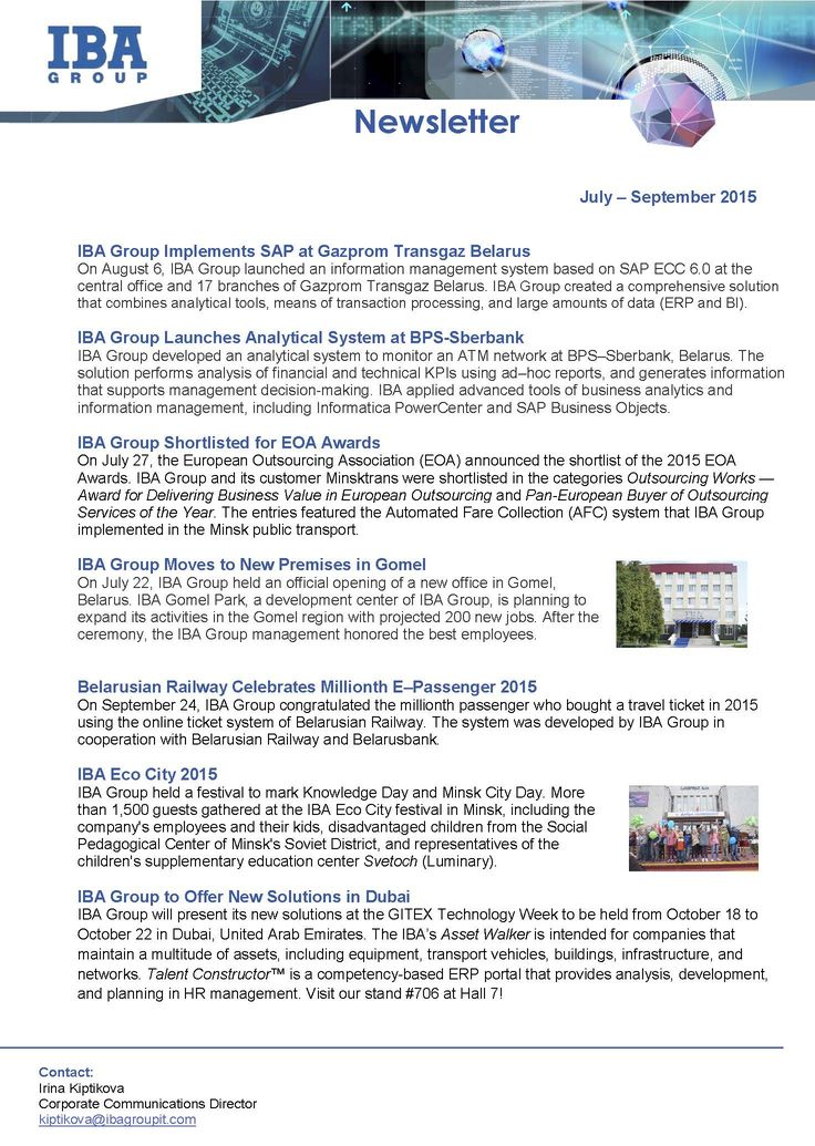 Best Iba Group Newsletters Images On