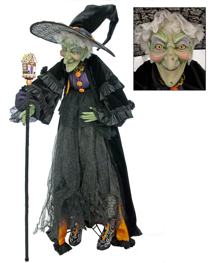 """Katherine's Collection Tricky Treats Halloween Collection 60"""" Life Size Greta Witch Doll Free Ship"""