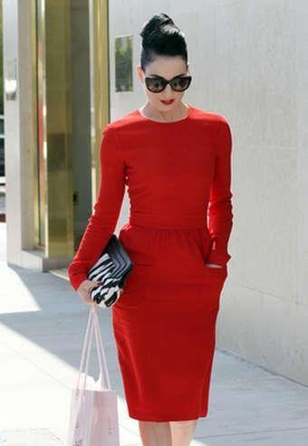 Красвое красное платье для клуба