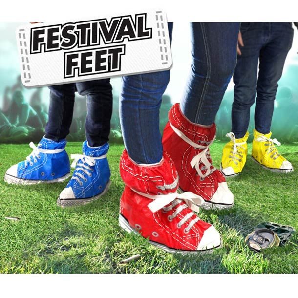 Clearly there is a need for designer trash bags for rainy festival days.     Festival-Feet-wtf-gadget-1