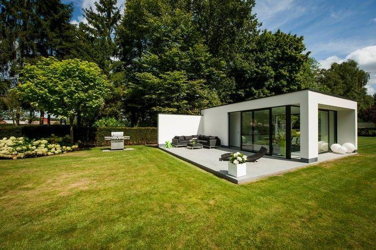 poolhouse bijgebouw strak en modern |Wim Verrezen tuinarchitectuur
