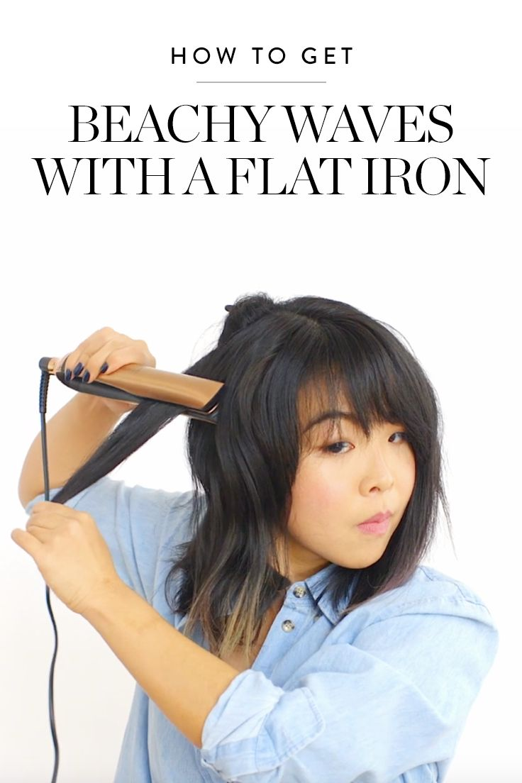 How to Get Beachy Waves with a Flat Iron via @PureWow