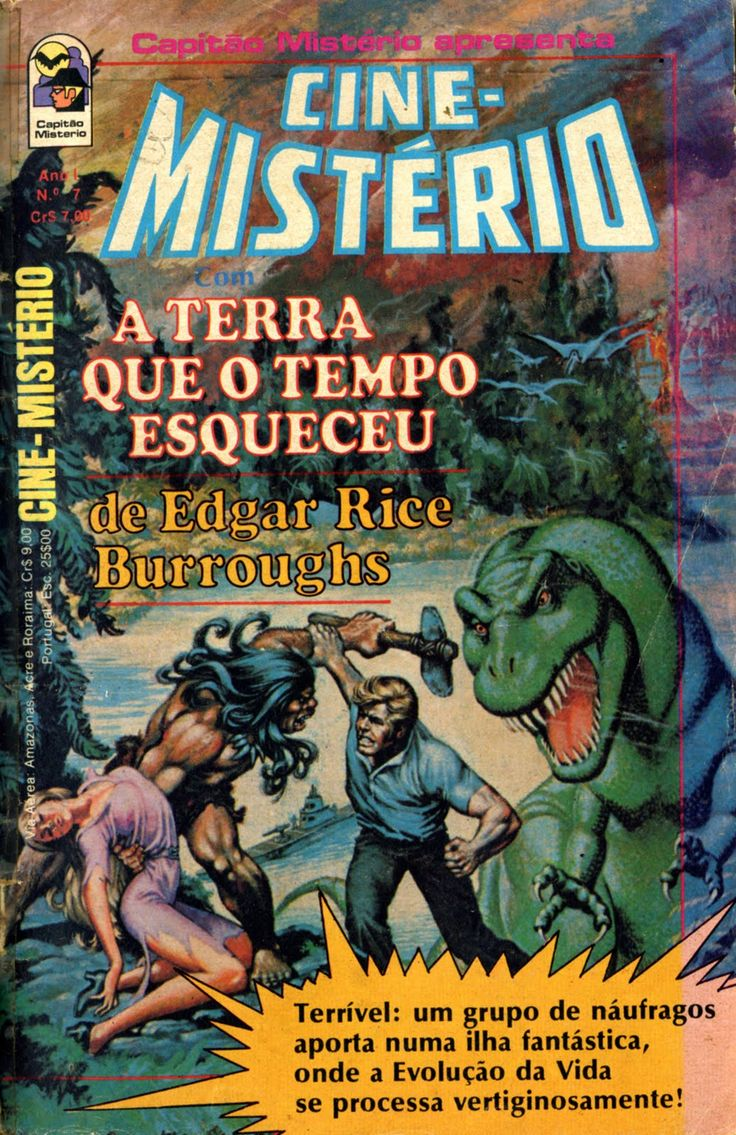 """O Homem Ilustrado - The Illustrated Man: """"The Land that Time Forgot"""" and """"The War of the Worlds"""" - Brazilian comic editions"""
