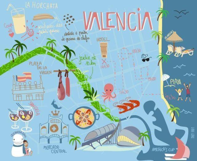 Valencia Karte Von Mary Birdy Valencia Spanje Valencia Spanje