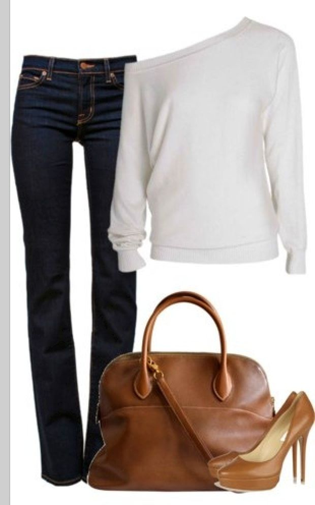 Sport sweter and blue jeans