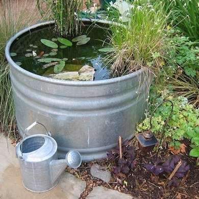 29 best gal v garden tubs images on pinterest herb for Koi pond tubs