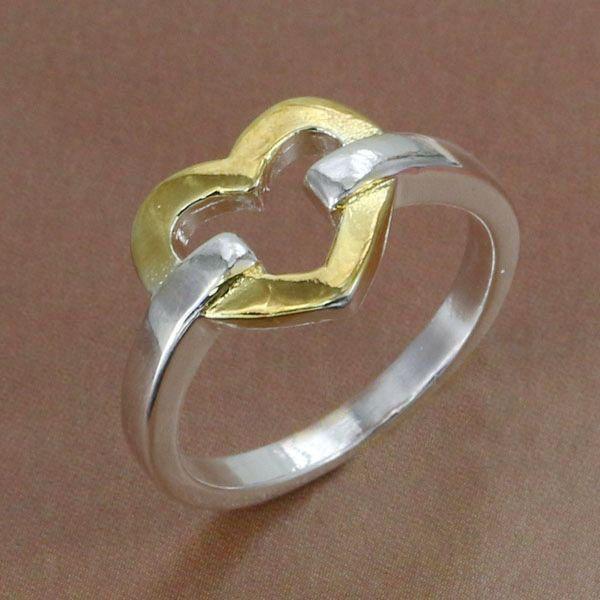 День отца подарков, день отца, Размер: 6,7, 8,9, 10 Оптовая посеребренные кольцо, посеребренные ювелирные изделия, сердце Кольцо