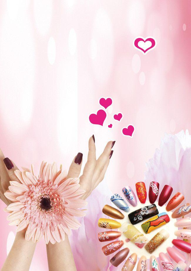Moda Unhas Poster Background Fashion Nails Nail Salon Design Nail Logo