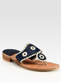 Jack Rogers - Navajo Palm Beach Platinum Sandals #SaksLLTrip