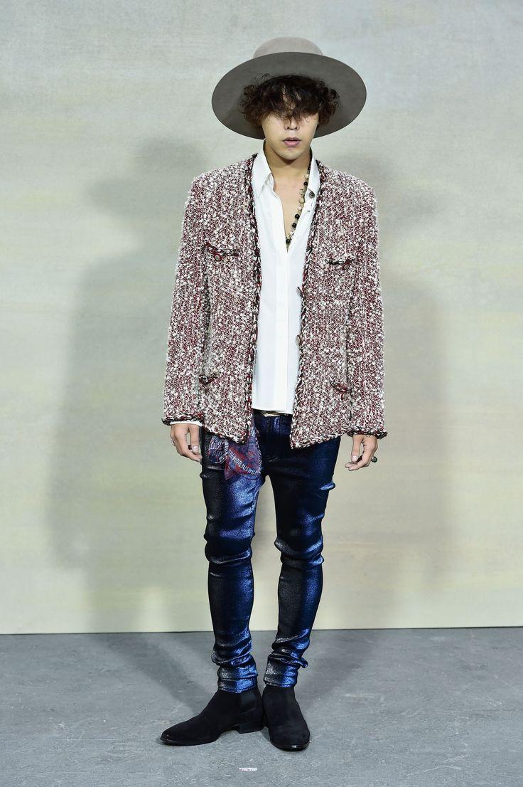 G-Dragon at Paris Fashion Week (Womenswear) for Chanel's Spring Summer 2015 RTW 003
