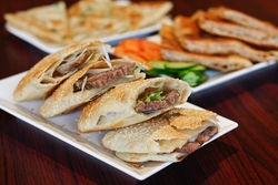 The sesame pancake with beef is one of a dozen traditional Chinese varieties of served at House of Pancakes. #SF #dining