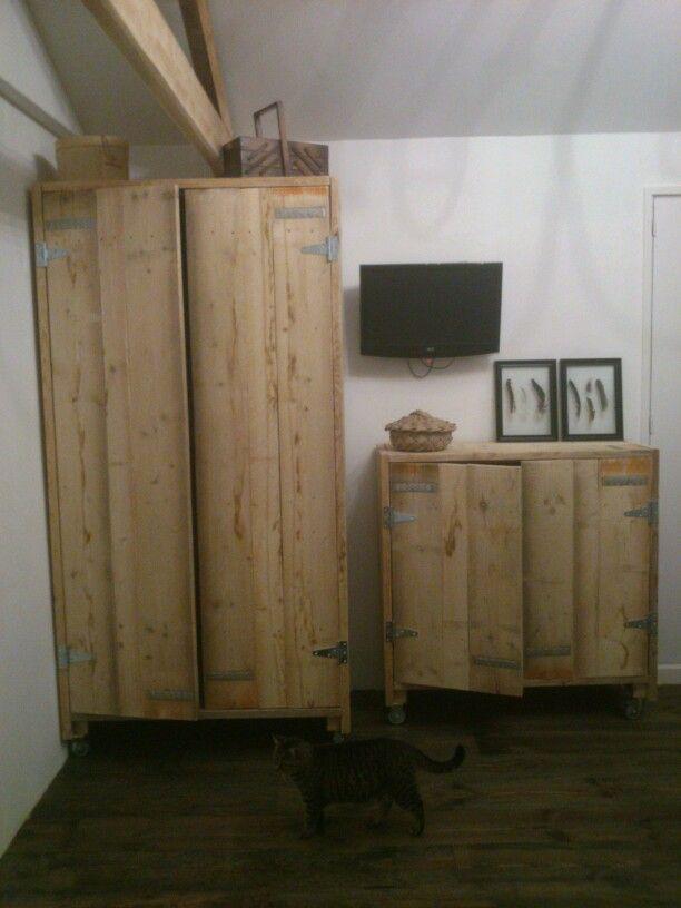 Diy closet steigerhout