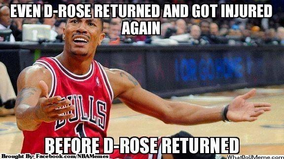 Derrick Rose Problems Funny Nba Memes
