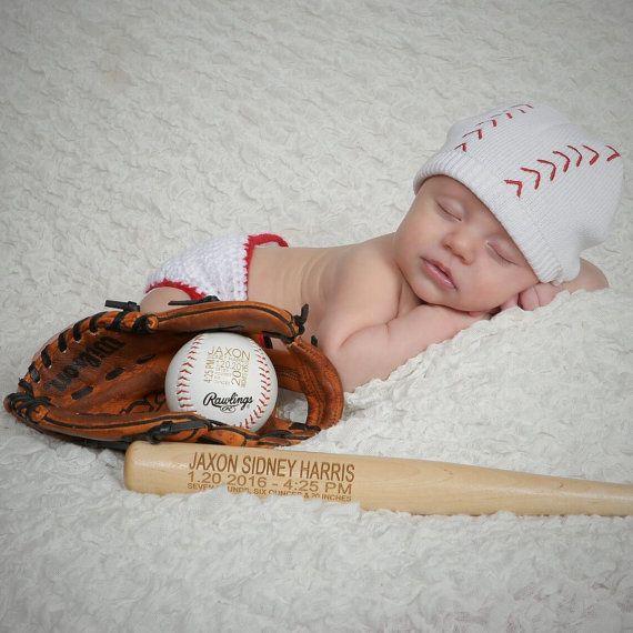 Baseball Baby Announcement, baseball nursery decor, personalized baseball,newborn baby stats custom Baseball Newborn photo prop baseball bat