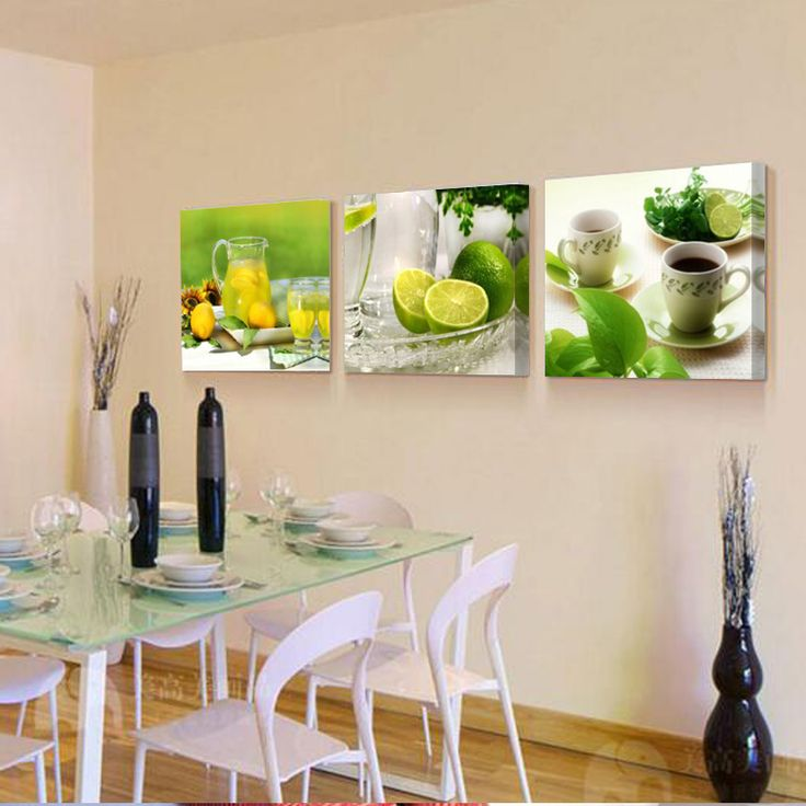 No Frame 3 Panels Modern Lemon green natural fruit Painting On Canvas Wall Art Cuadros Picture Home Decor For restaurant