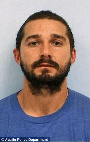 This booking photo was released by the City of Austin after Shia LaBeouf's arrest in October 2015.