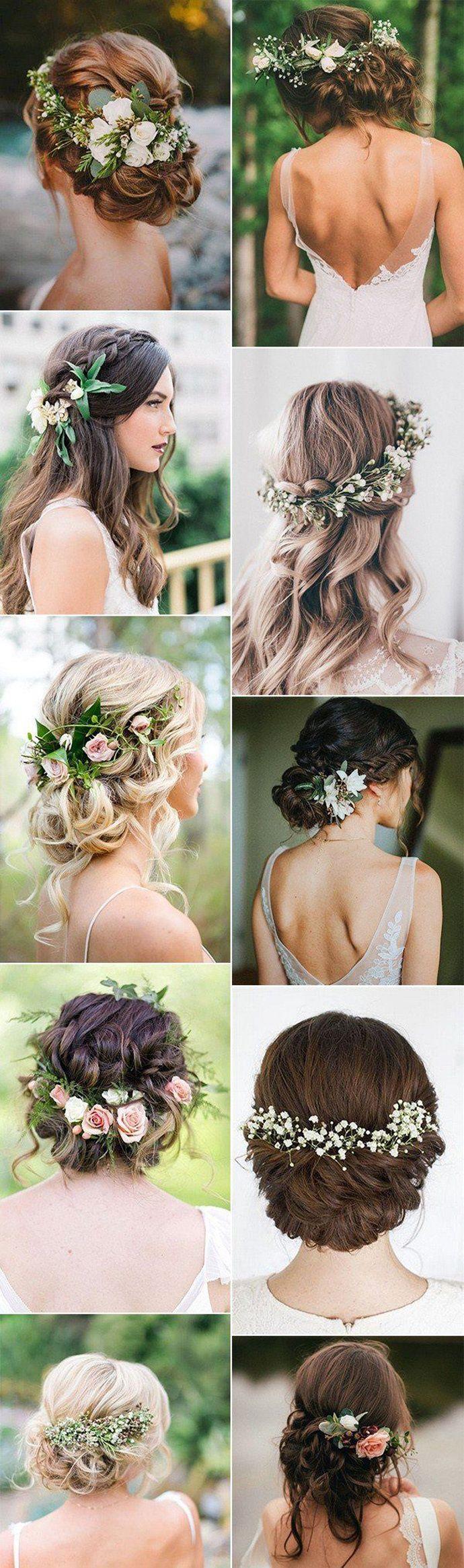 Fryzury Slubne Ozdobione Kwiatami Wedding Hair Flowers Beach Wedding Hair Romantic Beach Wedding
