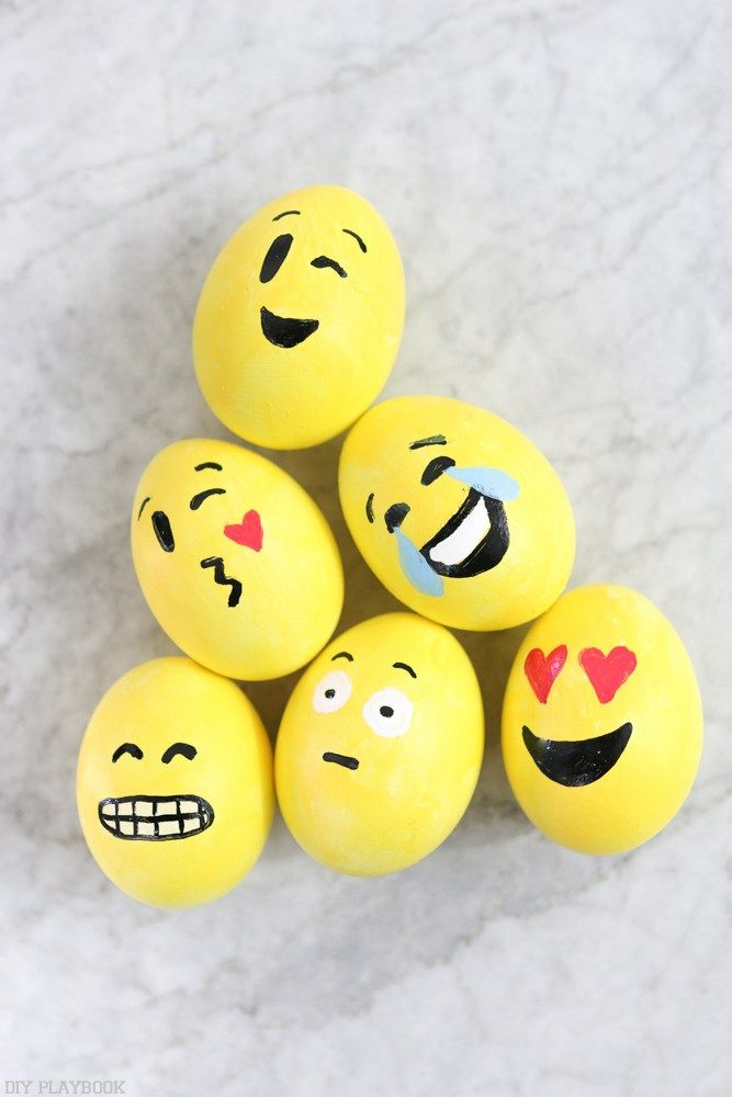 A Super Easy DIY Emoji Easter Egg Tutorial With Tips