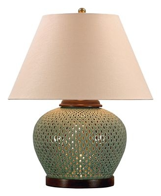 Ralph lauren table lamp camille pierced porcelain celadon crackle