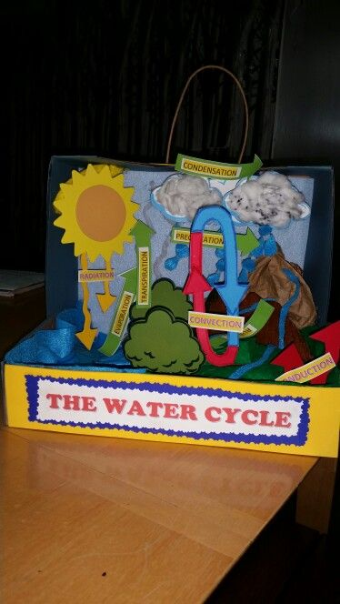 The water cycle 3 D project by Bianca A . Rivas