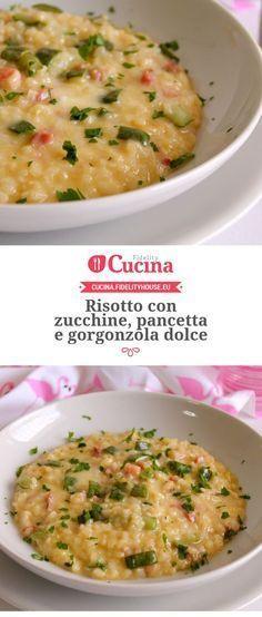 Risotto con zucchine, pancetta e gorgonzola dolce della nostra utente Giovanna. Unisciti alla nostra Community ed invia le tue ricette!
