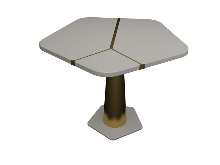 3DS Max render - www.carolinetissier.com - Caroline Tissier Intérieurs - restaurant table design