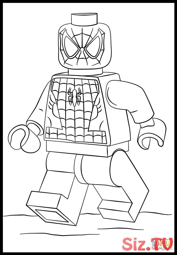 lego spiderman coloring pages 847