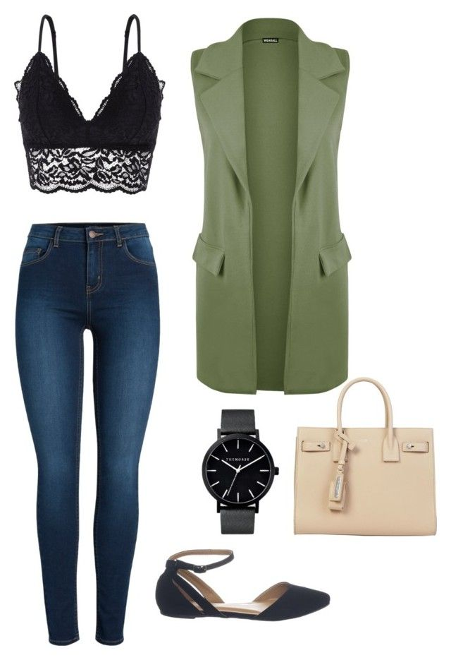 """Untitled #22"" by cass0698 on Polyvore featuring Oysho, WearAll, Pieces and Yves Saint Laurent"