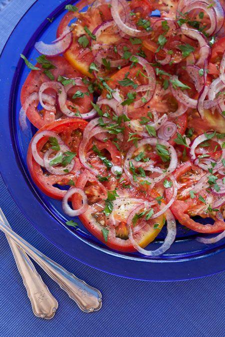 Ensalada de tomates con perejil tomatensalade met peterselie  Bijzonder Spaans
