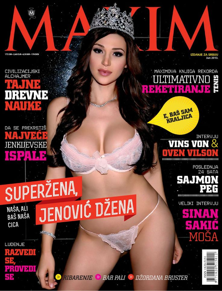 maxim serbia may 2013 jenovich jenna model pinterest for men and magazines. Black Bedroom Furniture Sets. Home Design Ideas