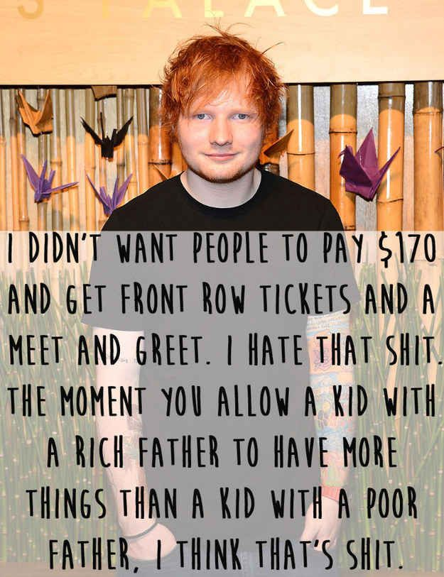 When he made all his concerts the same price.