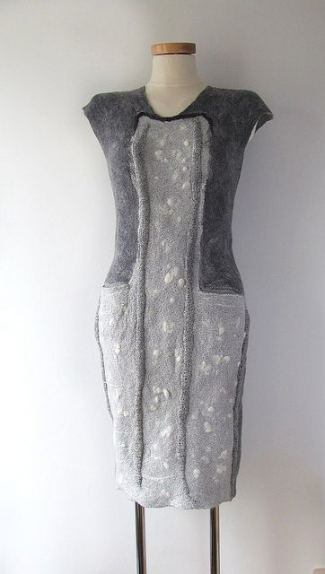 Felted dress - Grey | Flickr - Photo Sharing!