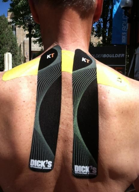 KT Tape Pro for upper thoracic pain