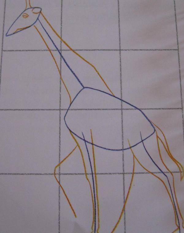 Como desenhar uma girafa - 4 passos (com imagens)