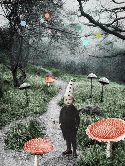 """Soppskog (Mushroom forest),"" 2010, by Norwegian artist Katrine Kalleklev (b 1973). digital graphics. via the artist's site"