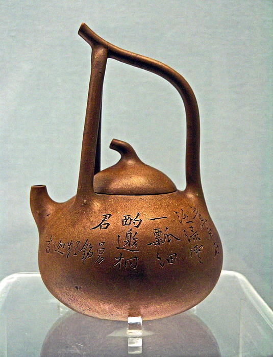 This teapot has a very bowl-like quality that is lovely and unique.
