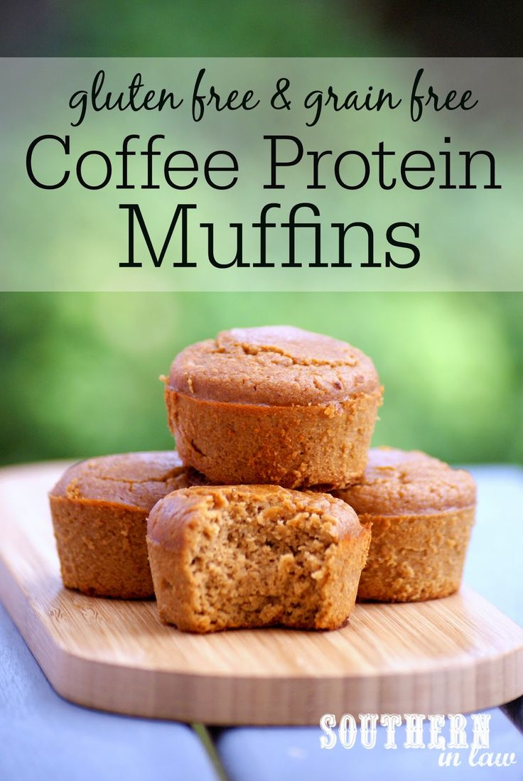 Gluten Free Coffee Protein Muffins | grain free, gluten free, paleo, low fat, low carb, refined sugar free