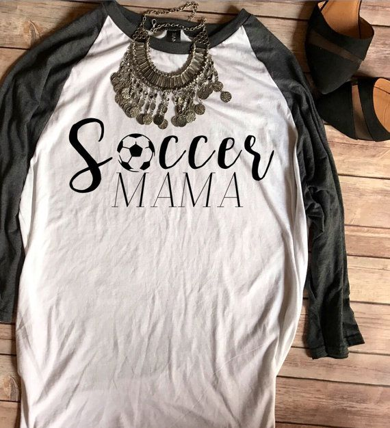 Soccer Mama Baseball Tee Soccer Mom Shirt by TradedCrownsBoutique