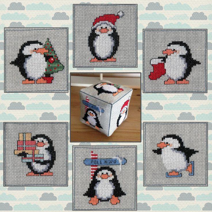 Cross Stitch Cube #penguins