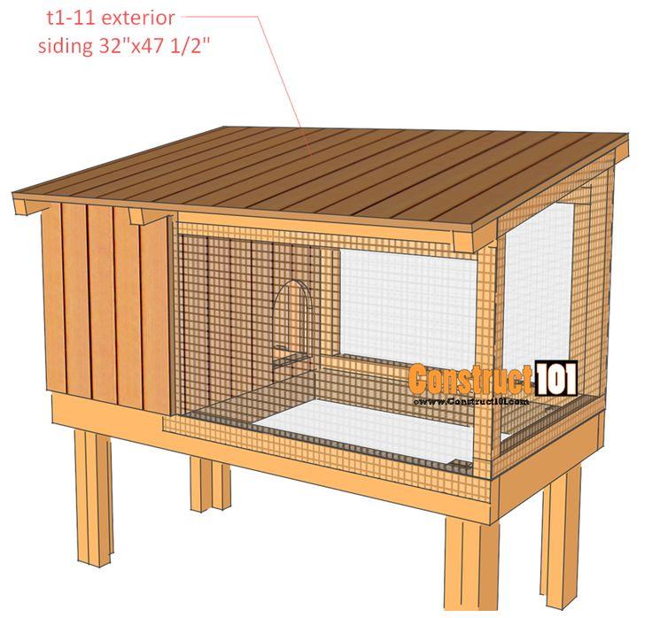 17 best ideas about rabbit hutch plans on pinterest diy for Rabbit hutch plans easy