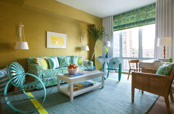 Turquoise, Lime Green U0026 Yellow (Scott Sanders) | Kips Bay Show House: Part 38