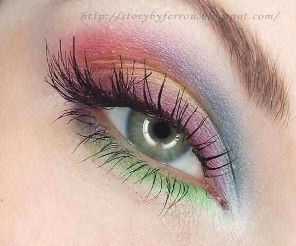 ...Bo w oczach tkwi siła duszy...: 'Lollipop' - kolorowy makijaż krok po kroku