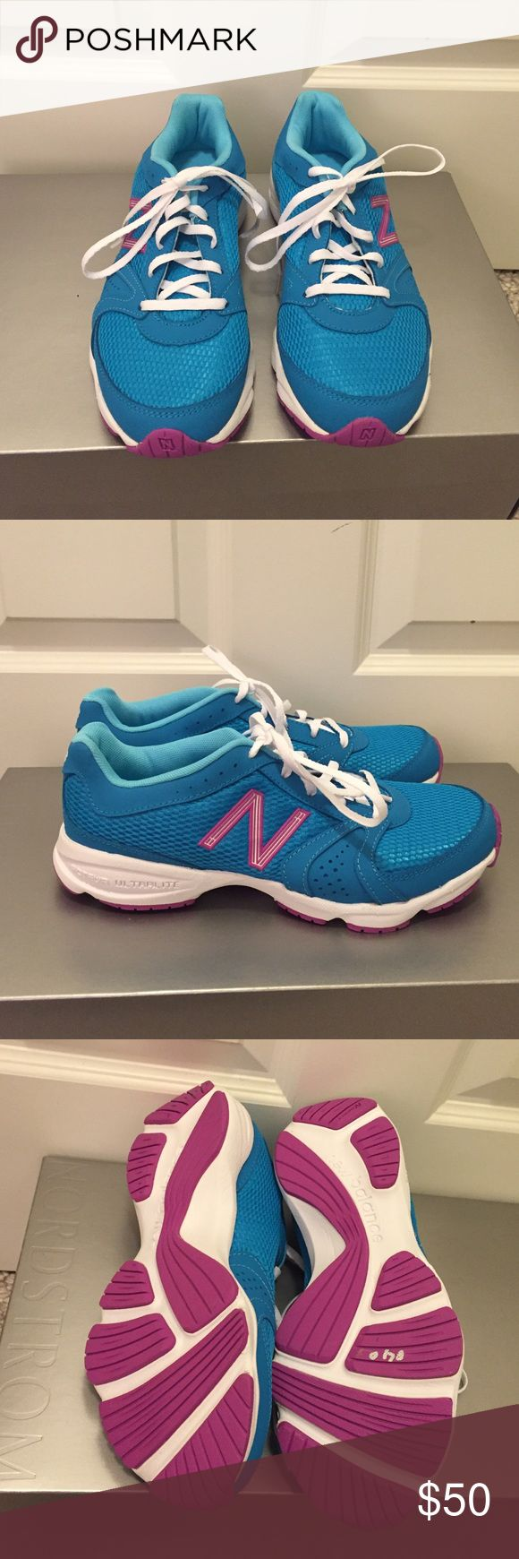 Nwot New Balance gym shoes 7.5 Nwot new balance gym shoes size 7.5.  Never worn, no flaws. I don't have the original box New Balance Shoes Athletic Shoes