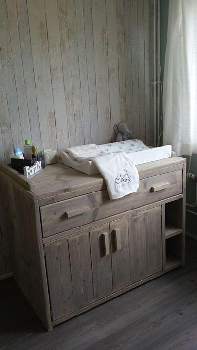 Steigerhout jongens kamer - grey - wood - Dirkje draak